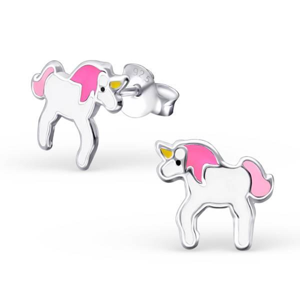 Zilveren oordbelletje paard