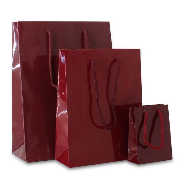 Luxe papieren tassen rood